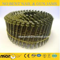 Buy cheap anti-rust yellow painting coil nails/coated pallet coil nail from wholesalers