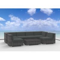 Buy cheap 7pc Modern Outdoor Backyard Wicker Rattan Patio Furniture Sofa Sectional Couch Set - Charcoal from wholesalers
