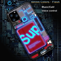 Buy cheap Laudtec 2020 LED Luminous Tempered Glass Night Light Phone Case For iPhone 11 Luminous Cell Glass Case For iPhone from wholesalers