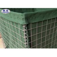 Buy cheap Galvanized Welded Military Hesco Barriers With Geotextile Cloth OEM Service from wholesalers