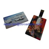 Buy cheap Business Card USB Flash Drive Made by ABS, Colorful Printing from wholesalers