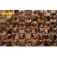 Buy cheap Antioxidant Golden Glass Mosaic Bathroom Wall Tiles With 13 Facets from wholesalers