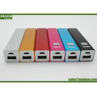 Buy cheap Metal Case Portable Battery Power Bank , Lipstick Design 18650 Battery Bank For Samsung product