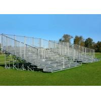 Buy cheap Fixed Outdoor Aluminum Bleachers Galvanized Steel Frame Low Maintenance from wholesalers