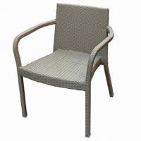 China Bistro Chair, Made of Aluminum and Rattan Woven, UV-resistant on sale