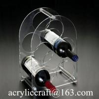 Buy cheap Latest Fashion Acrylic Wine Rack / Plexiglass Bottle Holder / Perspex Wine Display Stand from wholesalers