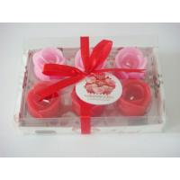 Buy cheap Romatic rose flower candle set for valentine's day product