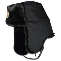 Buy cheap Black Mens Waterproof Winter Hats , Faux Fur Ski Warm Winter Hats With Ear Flaps from wholesalers