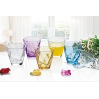 Buy cheap 6PC Drinking Glass Water Set Colored Gift Packing Stock 260ml Weight 195g from wholesalers
