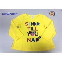 Buy cheap Customized Design T-Shirt Screen Print Long Sleeve 100% Cotton Baby Girl T-Shirt from wholesalers