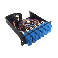 Buy cheap 12 SC Connectors anti - shocking MPO Patch Panel for cable wiring system product