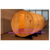 Buy cheap Canopy Barrel Sauna Room Canadian Pine Wood Electric Sauna Heater from wholesalers