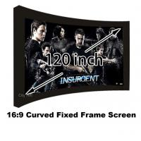 Buy cheap Made In China 120 Inch Full HD Manual Curved Fixed Frame Projection Screen 16:9 Ratio from wholesalers