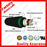 Buy cheap outdoor fiber optic cable gyta53 Direct Burial armored Double sheath underground cable Military Subway Broadband Access from wholesalers