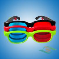 Buy cheap Plastic red blue 3d glasses for computer games from wholesalers
