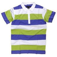 Buy cheap Multi Colors CVC Cotton POLO T Shirts With Strips Screen Printing Method from wholesalers