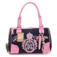 Buy cheap Juicy Couture Studded Velour Madge Handbag Black-Pink from wholesalers