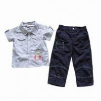 Buy cheap Children's Suit, Made of 100% Cotton, Suitable for Summer Season from wholesalers