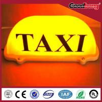 China outdoor waterproof anti-wind frontlit backlit  illuminated advertising taxi light box on sale