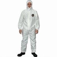 Buy cheap Nontoxic Fluid Resistant Antiviral Disposable Coveralls product
