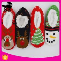 China Winter Warm Christmas Animal Eco-friendly Silica Gel Dot Indoor Anti-slip Girls Ladies Home Shoes on sale