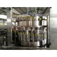 Soft Drinks Rotary Filling Machine Frequency Conversion Timing 2.2KW For Market Selling
