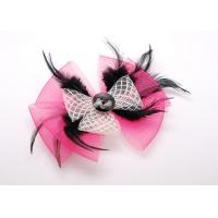Buy cheap Shirt Pink Sheer Fabric Bow Flower Brooches and Pins Corsage For Women from wholesalers