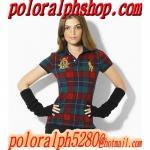 Buy cheap Polo Ralph Lauren women's grid short sleeve T-shirt(www.poloralphshop.com) from wholesalers
