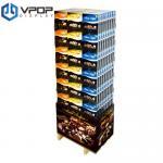 Buy cheap Custom Logo Printed Cardboard Advertising Displays Enviromental Friendly For Retail Store from wholesalers