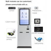 Buy cheap 32 Inch Printer Digital Signage Kiosk Selfpay Terminal 450cd/m2 Self Service product