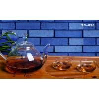 Buy cheap HOT SALE hand- made heat resistant borosilicated or pyrex microwave glass tea set microwave glass pot glass tea sets from wholesalers