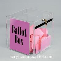 Buy cheap Fancy new design clear PMMA collection box with lock and key / acrylic ballot box from wholesalers