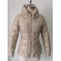 Buy cheap Beige Adult Wonens Short Down Jackets with CF / Pocket Zipper product