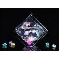 Quality Mini Rhombus Shaped / Custom Acrylic Fish Tank , Desktop Fish Bowl 3mm Clear for sale