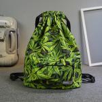 Buy cheap Cannabis Leaves Multicolor CANNABIS LEAF BACKPACK RUCKSACK BAG MARIJUANA WEED BOY GIRL Drawing Rope Shoulder Bag from wholesalers