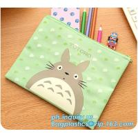 Buy cheap Boys girls solid color large capacity canvas pencil bag case, stationery pencil bag pen case school supplies pencilcase from wholesalers
