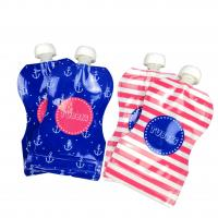 Buy cheap Reusable Baby Food Spout Pouch Packaging Laminated Material CMYK Color For Beverages from wholesalers