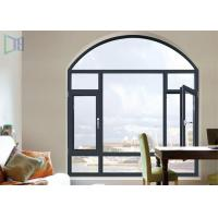 A Rated Storm Impact Arched Aluminium Windows , Soundproof Aluminium Curved Windows