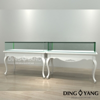 Buy cheap Lighting Matte White Showroom Display Cases from wholesalers