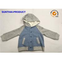 Buy cheap 100% Cotton Kids Hooded Jacket Contrast Long Sleeve Cap Snaps For Closure from wholesalers