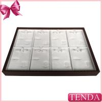 China Affordable Small Medium Large Size Leather Jewellery Jewel Jewellry Sets Displaying Jewelry Tray with Pad Inserts on sale