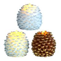 China Christmas Decor Home Used Realistic Pine Cone Moving Flame Led Candle With Dancing Flicker Flame on sale