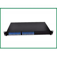 Buy cheap ODF FTTH Fiber Optic PLC Splitter , 19 Rack 1U Planar Lightwave Circuit Splitter from wholesalers
