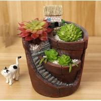 Buy cheap secret garden in the sky micro landscape resin fleshy pot bonsai DIY decoration in competitive price from wholesalers