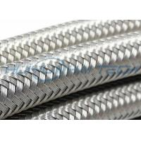 Buy cheap 304 Metal Stainless Steel Braided Sleeving Full Coverage For EMI Cable Protection from wholesalers