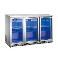 China Hollow Glass Door Commercial Bar Coolers With Optional Led Lighting on sale