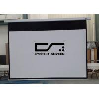 Buy cheap Cynthia screen 72-600 matte white electric projector screen with remote control from wholesalers