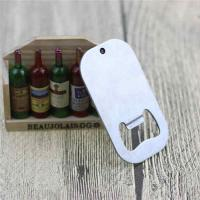 Buy cheap Cheap Promotion Gift Blank Engrave Logo Stainless Steel Dog Tag Bottle Opener with Ball Chain from wholesalers