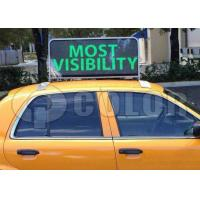 Buy cheap Outdoor Double Side P5 LED Taxi Sign RFB 3G Wifi Taxi Roof LED Car Top Display from wholesalers