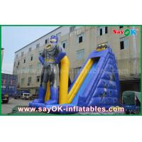 Buy cheap Kids Giant Commercial Inflatable Superman Bouncer Slide 8m Height With Print from wholesalers